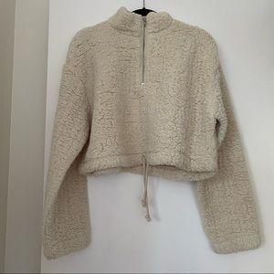 TOPSHOP half-zip fleece pullover